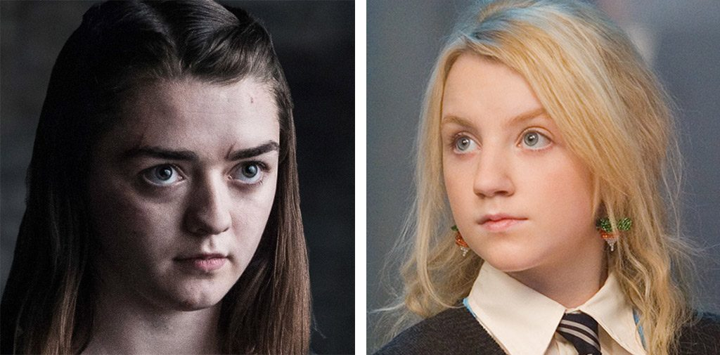 Arya Stark and Luna Lovegood