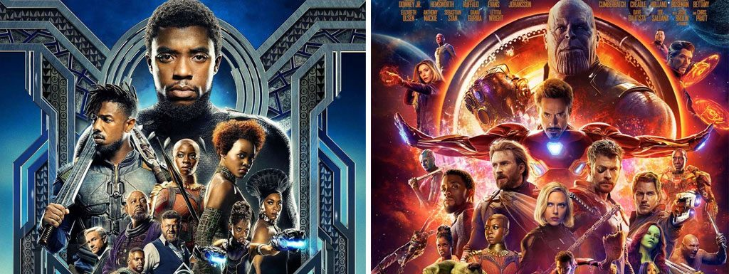 Black Panther and Avengers: Infinity War posters