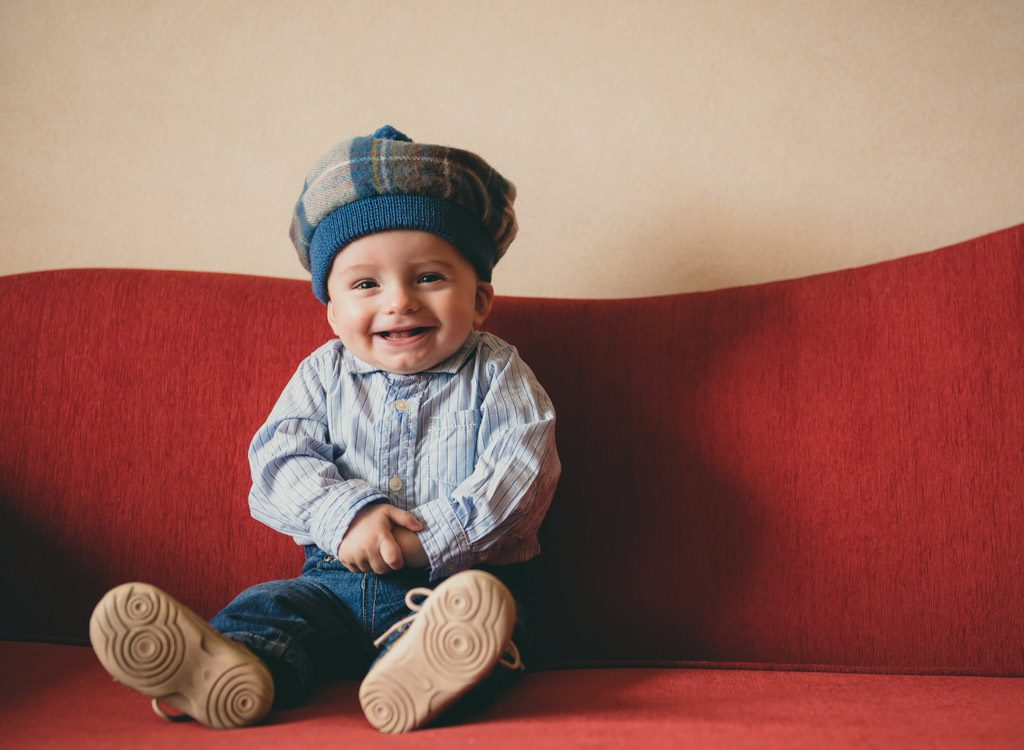 Small boy in Scottish hat