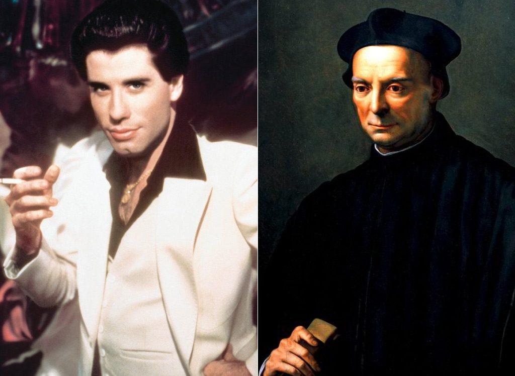 Image of John Travolta and  Niccolò Machiavelli