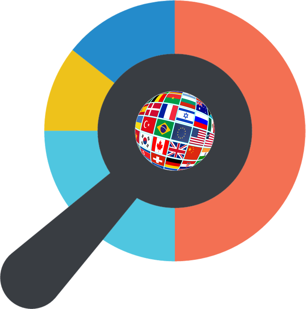 Namerology Logo with world flags
