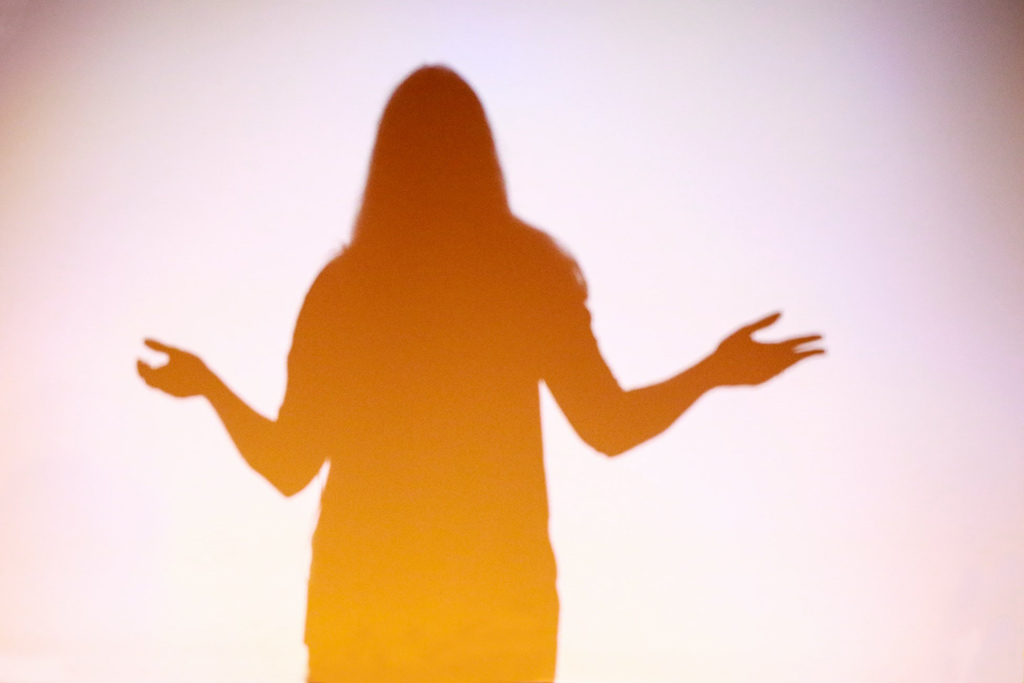 Photo of woman in foggy silhouette