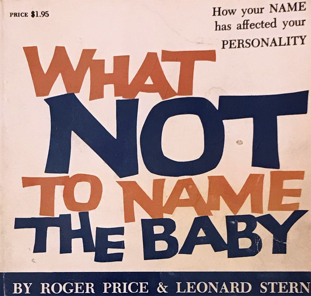 "Close-up of ""What Not to Name the Baby"" book cover"