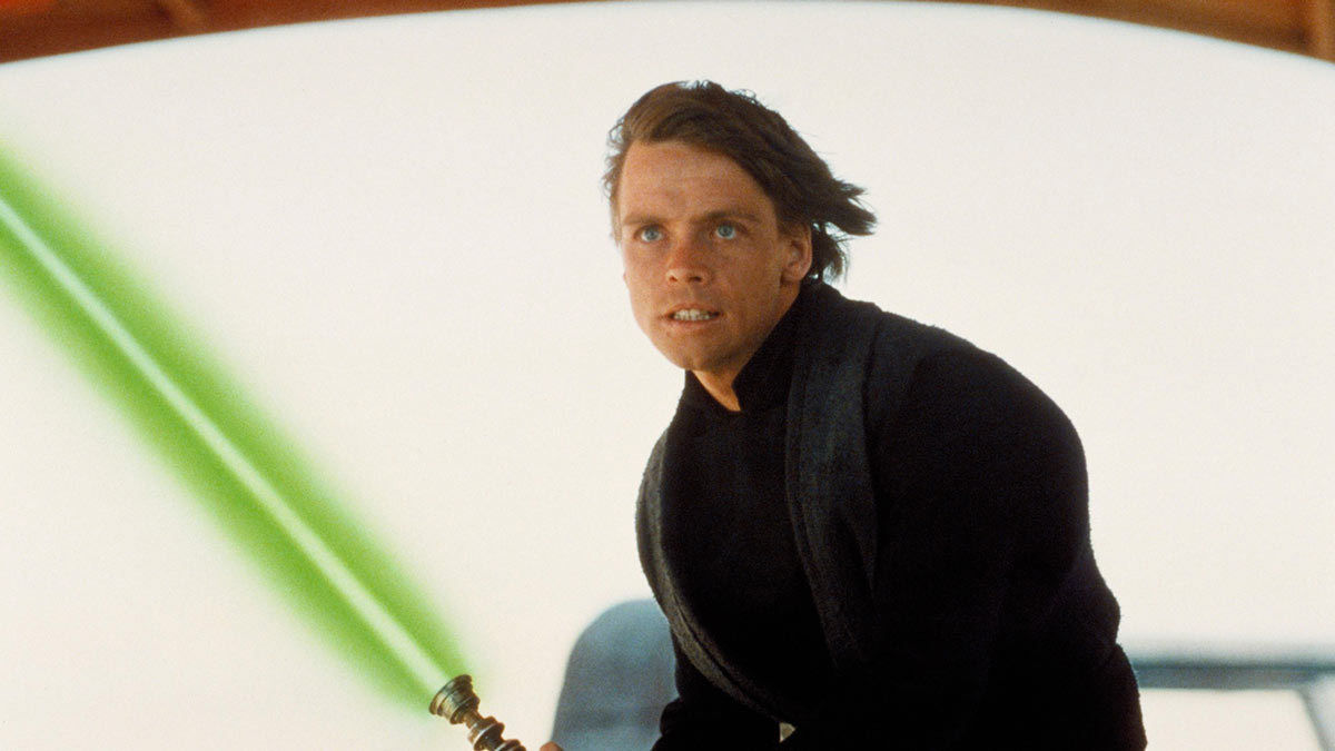 Luke Skywalker with lightsaber