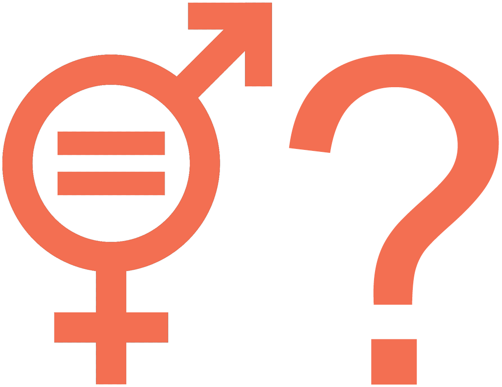 Image of unisex symbol + question mark