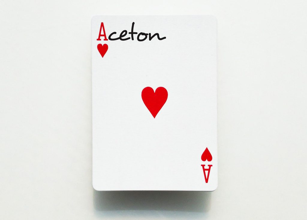 Ace playing card edited to say Aceton