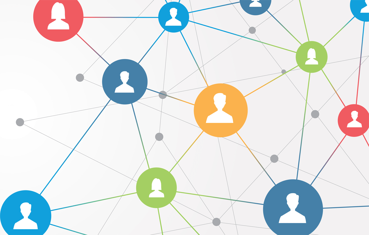 illustration representing a network of people
